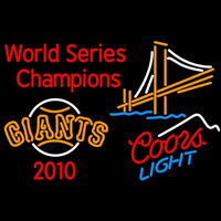 Coors Light Mountain Golden Gate San Francisco Giants 2010 World Series Champions Beer Sign Neon Sign