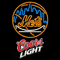 Coors Light New York Mets MLB Beer Sign Neon Sign