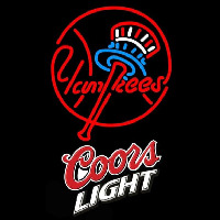 Coors Light New York Yankees MLB Beer Sign Neon Sign