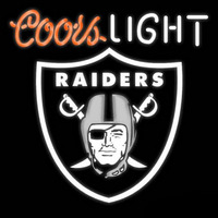 Coors Light Oakland Raiders Beer Real Neon Glass Tube Neon Sign Neon Sign