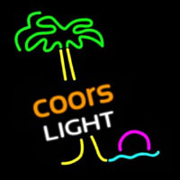 Coors Light Palm Tree Neon Sign