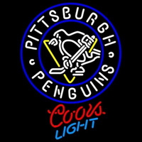Coors Light Pittsburgh Penguins Hockey Beer Sign Neon Sign
