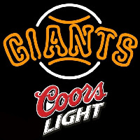 Coors Light San Francisco Giants MLB Beer Sign Neon Sign