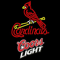 Coors Light St Louis Cardinals MLB Beer Sign Neon Sign