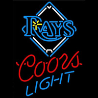 Coors Light Tampa Bay Rays MLB Beer Sign Neon Sign