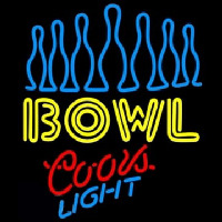 Coors Light Ten Pin Bowling Neon Sign