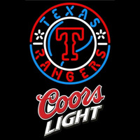 Coors Light Texas Rangers MLB Beer Sign Neon Sign