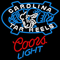 Coors Light Unc North Carolina Tar Heels MLB Beer Sign Neon Sign