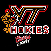 Coors Light Virginia Tech Vt Hockey Logo Beer Sign Neon Sign