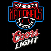 Coors Light Washington Nationals MLB Beer Sign Neon Sign