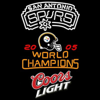 Coors Light with NBA San Antonio Spurs Championship Neon Sign Neon Sign