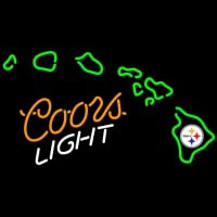 Coors Light with Pittsburgh Steelers NFL Neon Sign Neon Sign