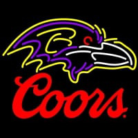 Coors Logo Baltimore Ravens NFL Neon Sign Neon Sign