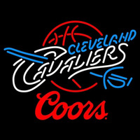 Coors Logo Cleveland Cavaliers NBA Beer Sign Neon Sign