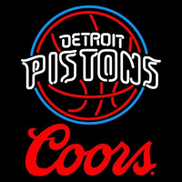Coors Logo Detroit Pistons NBA Beer Sign Neon Sign