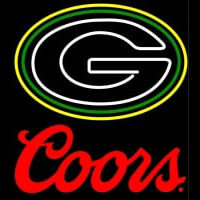 Coors Logo Green Bay Packers NFL Neon Sign Neon Sign