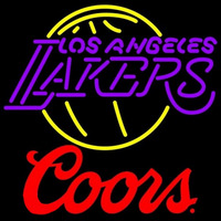 Coors Logo Los Angeles Lakers NBA Beer Sign Neon Sign
