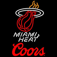 Coors Logo Miami Heat NBA Beer Sign Neon Sign
