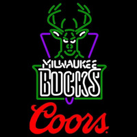 Coors Logo Milwaukee Bucks NBA Beer Sign Neon Sign