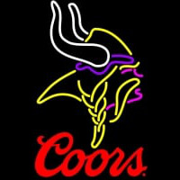 Coors Logo Minnesota Vikings NFL Neon Sign Neon Sign