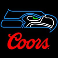 Coors Logo Seattle Seahawks NFL Neon Sign Neon Sign