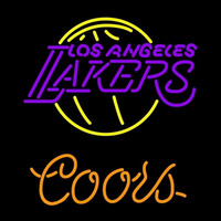 Coors Los Angeles Lakers NBA Beer Sign Neon Sign