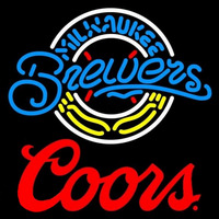 Coors Milwaukee Brewers MLB Beer Sign Neon Sign
