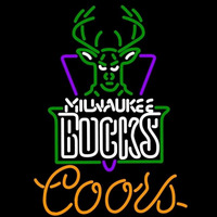Coors Milwaukee Bucks NBA Beer Sign Neon Sign