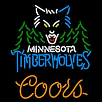 Coors Minnesota Timberwolves NBA Beer Sign Neon Sign