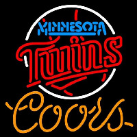 Coors Minnesota Twins MLB Beer Sign Neon Sign