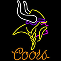 Coors Minnesota Vikings NFL Neon Sign Neon Sign