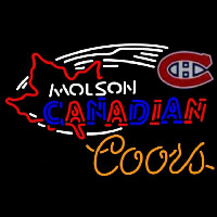 Coors Molson Montreal Canadiens Hockey Beer Sign Neon Sign