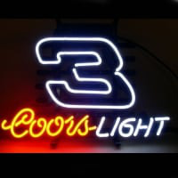 Coors Nascar #3 Dale Earnhardt Neon Sign