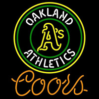 Coors Oakland Athletics MLB Beer Sign Neon Sign