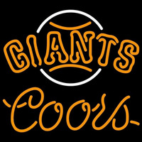 Coors San Francisco Giants MLB Beer Sign Neon Sign
