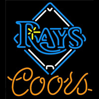 Coors Tampa Bay Rays MLB Beer Sign Neon Sign