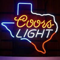 Coors Light Texas Neon Sign