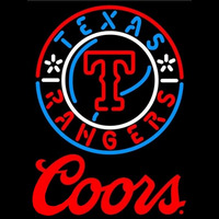Coors Texas Rangers MLB Beer Sign Neon Sign