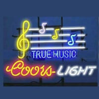 Coors True Music Neon Sign