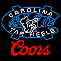 Coors Unc North Carolina Tar Heels MLB Beer Sign Neon Sign