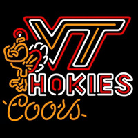 Coors Virginia Tech Vt Hockey Logo Beer Sign Neon Sign
