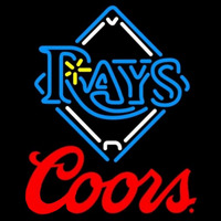 Coors Xtampa Bay Rays MLB Beer Sign Neon Sign