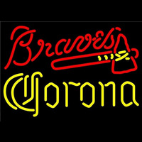 Corona Atlanta Braves MLB Beer Sign Neon Sign