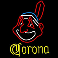 Corona Cleveland Indians MLB Beer Sign Neon Sign