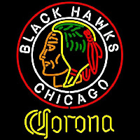 Corona Commemorative 1938 Chicago Blackhawks Beer Sign Neon Sign