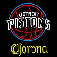Corona Detroit Pistons NBA Beer Sign Neon Sign