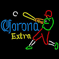 Corona E tra Baseball Player Beer Sign Neon Sign