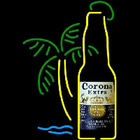Corona E tra Bottle Palm Tree Beer Sign Neon Sign