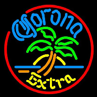Corona E tra Circle Palm Tree Beer Sign Neon Sign