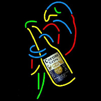 Corona E tra Parrot With Bottle Beer Sign Neon Sign